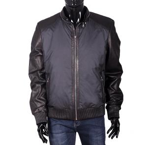 Мъжко яке от естествена кожа и текстил EZ-7606