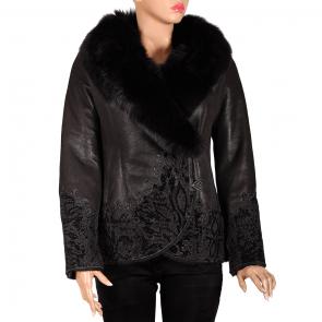 Дамско яке от естествена кожа ING-2065