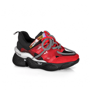 Дамски спортни обувки от естествен велур и стреч ILV-3085