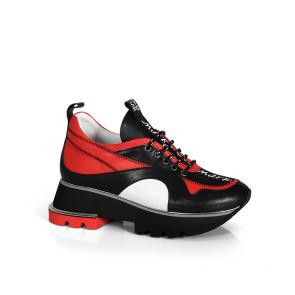Дамски спортни обувки от естествена кожа ILV-2386