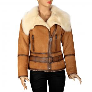 Дамско яке от естествена кожа ING-2019