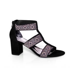 Дамски сандали от естествен велур CP-2966