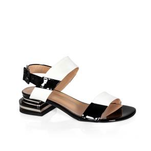 Дамски сандали от естествен лак ILV-2533-20