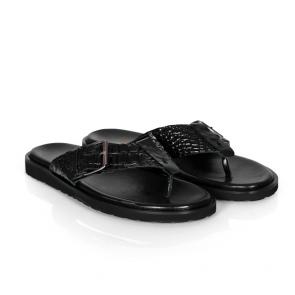 Мъжки чехли от естествена кожа GN-33306 - 2