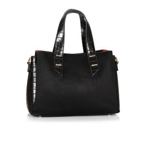 Дамска чанта от еко велур GRD-460 - 2
