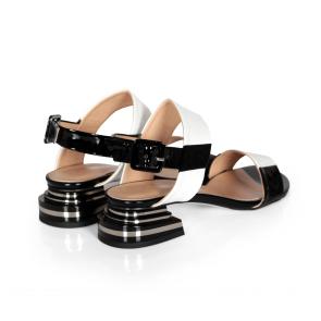 Дамски сандали от естествен лак ILV-2533-20 - 2