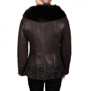 Дамско яке от естествена кожа ING-2065 - 2