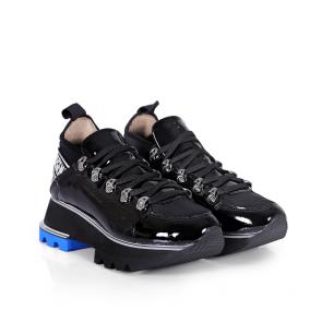 Дамски спортни обувки от естествен лак и стреч ILV-2180 - 2