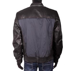 Мъжко яке от естествена кожа и текстил EZ-7606 - 2