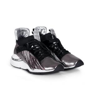 Дамски спортни обувки от естествена кожа и лак ILV-2210 - 2