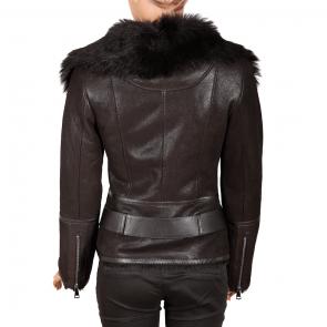 Дамско яке от естествена кожа ING-2019 - 2