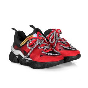 Дамски спортни обувки от естествен велур и стреч ILV-3085 - 2