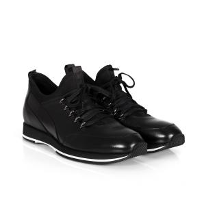 Мъжки обувки от естествена кожа и стреч GRI-3800-03 - 2