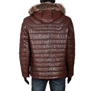 Мъжко яке от естествена кожа ENV-3363 - 2