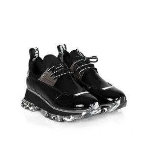 Дамски спортни обувки от естествен лак и стреч ILV-2052-1 - 2