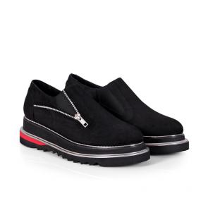 Дамски обувки от естествен велур N55-23-12 - 2
