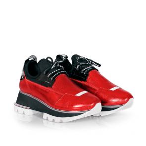 Дамски спортни обувки от естествена кожа и стреч ILV-2052 - 2