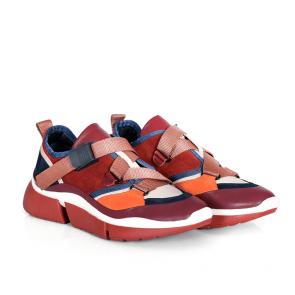 Дамски спортни обувки от естествена кожа и велур N55-01 - 2