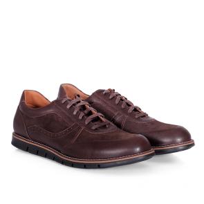 Мъжки обувки от естествена кожа и велур CP-2478S - 2