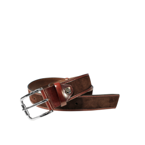 Мъжки колан от естествен велур BD-4077