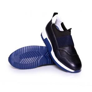 Мъжки обувки от естествена кожа и стреч TGR-116-02 - 2