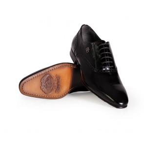 Мъжки официални обувки от естествен лак  - 2