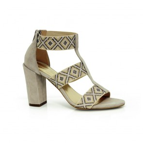 Дамски сандали естествен велур