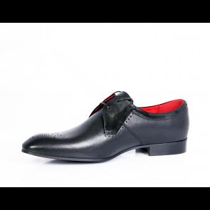 Мъжки официални обувки естествена кожа и велур - 2