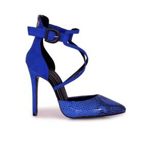 Дамски елегантни сандали от естествен велур
