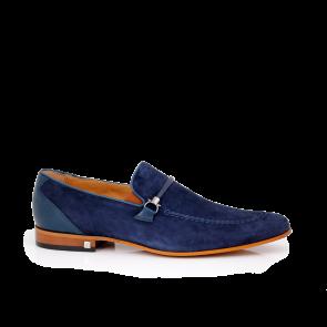 Мъжки обувки естествен набук и кожа