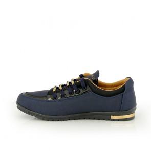 Дамски спортни обувки от еко кожа - 2