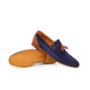мъжки обувки от естествен велур - 2