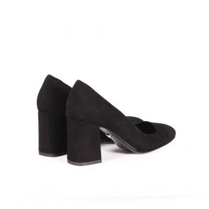 Дамски обувки от естесвен велур  - 2