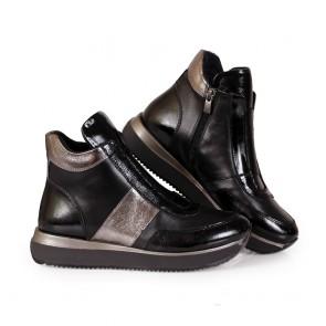 Дамски обувки от естествена кожа и лак - 2