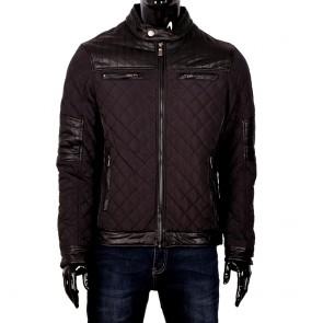 Мъжко яке от текстил и еко кожа