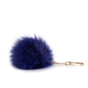 Аксесоар ключодържател от норвежка лисица в син цвят