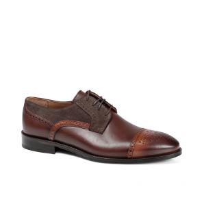 Мъжки обувки от естествена кожа и велур BRC-80121