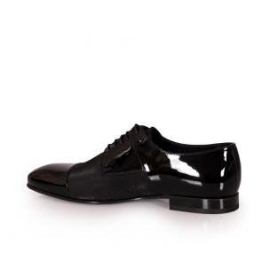 Мъжки официални обувки от естествен лак BRC-80250 - 2