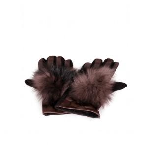 Дамски ръкавици от естествена кожа и текстил - 2
