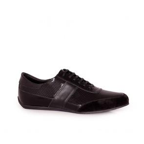 Мъжки спортни обувки от естествен лак и велур