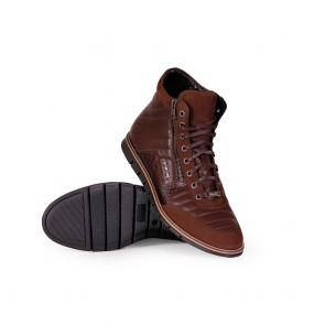 Мъжки обувки от естествена кожа и набук - 2