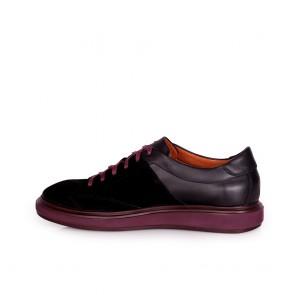 Мъжки обувки от естествен велур и кожа - 2