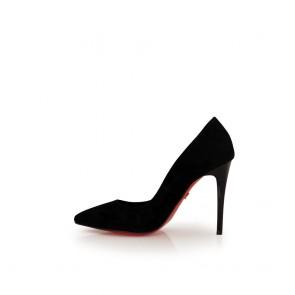 Дамски елегантни обувки от естествен велур - 2