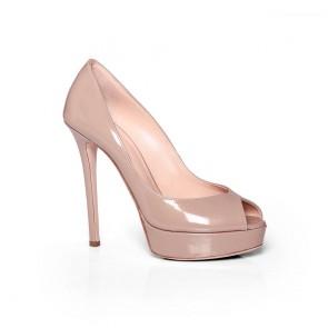 Дамски обувки от естествен лак CP-29442
