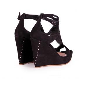 Дамски сандали от естествен велур - 2