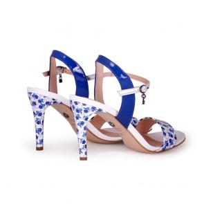 Дамски сандали от естествен лак - 2