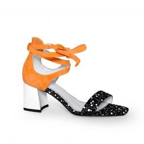Дамски сандали от естествен велур