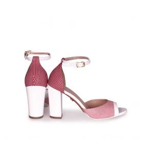 Дамски сандали от естествена кожа и лак  - 2