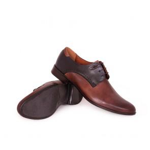 Мъжки официални обувки от естествена кожа - 2