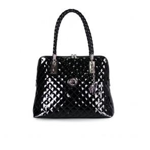 Дамска чанта от еко лак капитоне